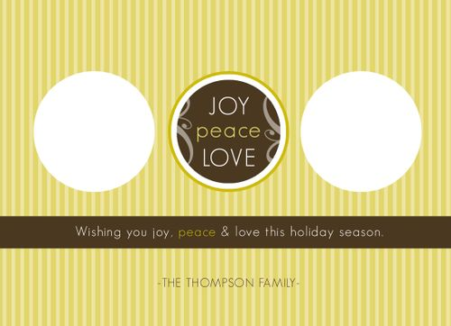 Joy Peace and Love 3-Image Front